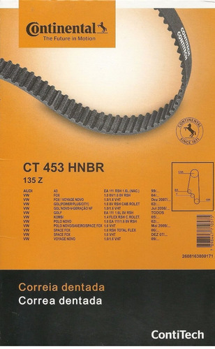 kit correia dentada e tensor polo 1.6 8v 2009 2010 original
