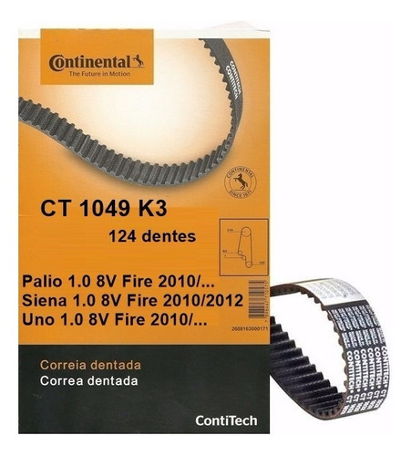 kit correia dentada e tensor uno 1.0 fire 2012 2013 2014 14