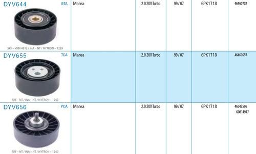 kit correia dentada + kit correia alternador marea 2.0 turbo