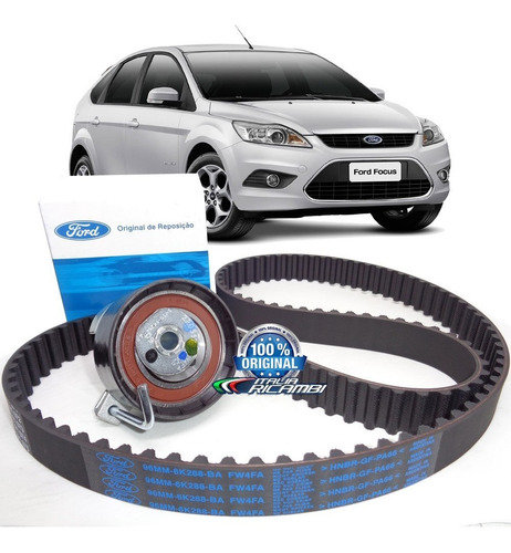 kit correia dentada + tensor original ford focus 1.6 sigma