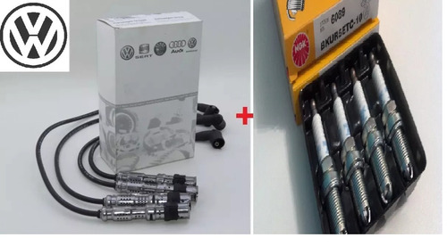 kit correia + tensor + cabo + vela gol g3 g4 1.0 8v gasolina