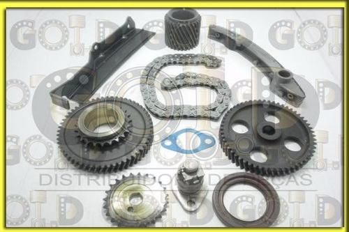 kit corrente motor completo elo simples pajero 2.8 (4m40t)