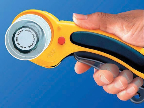 kit cortador circular c/trava 45mm+100 alfinete de segurança
