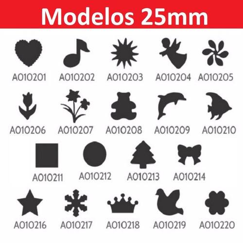 kit cortador furador circulo eva papel 16mm + 25mm + 50mm