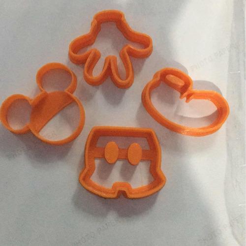 kit cortadores mickey mouse 4 peças com 8 cm