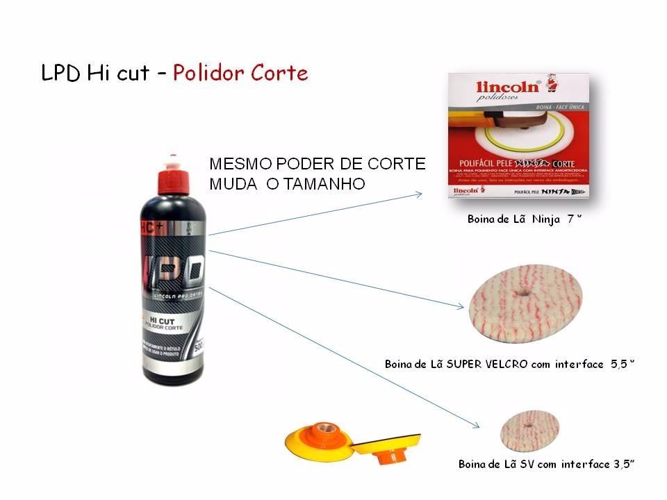 Kit Corte Polimento Profissional Lincoln Lpd Com Boinas - R  199 0abe18d52cf