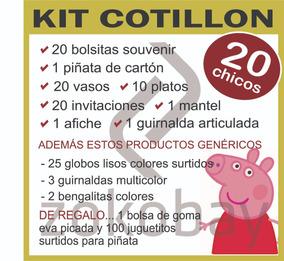 20 Piñata Juguete Kit Afiche Cotillon X Peppa Mantel Pig nwOPX0k8