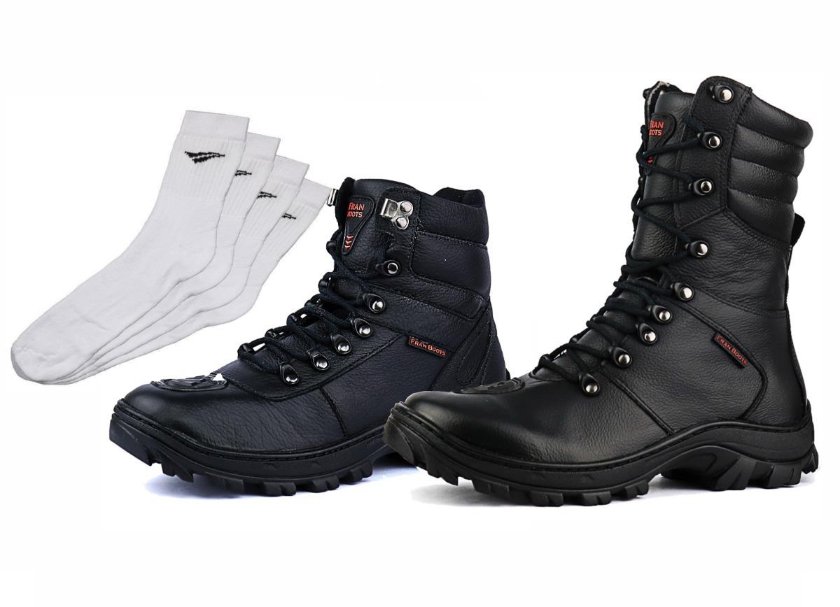2151eb2d445ce Kit Coturno Militar Motoqueiro Polícia Tatica Samu Rocan - R  239,90 ...