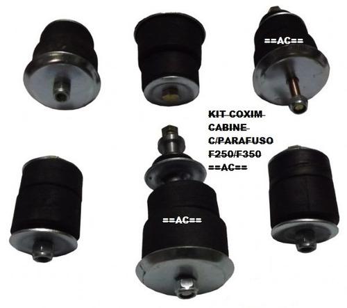kit coxim cabine f4000 f350 f250 98/2012 c/parafusos *novo*