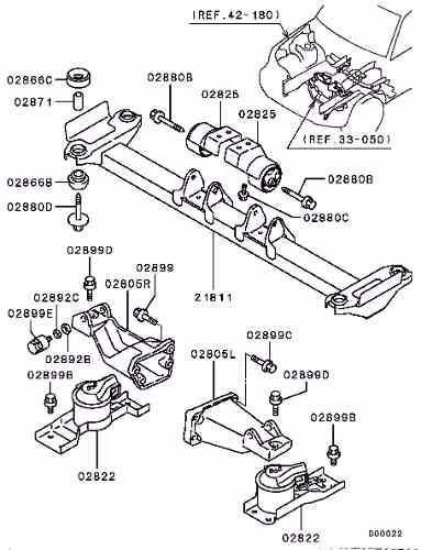 kit coxim motor esquerdo + direito pajero tr4 2002 2003 2004