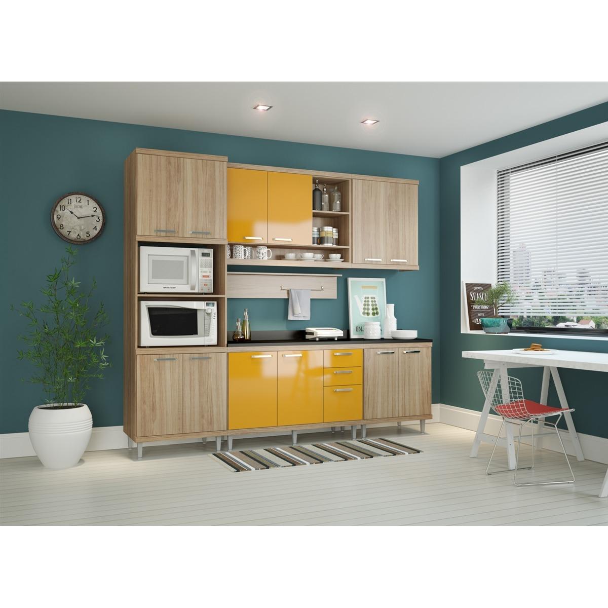 Kit Cozinha 7 M Dulos Com Tampo Multim Veis Sicilia 5815 Arg R