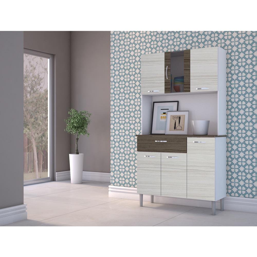 Kit Cozinha Compacta Branco Com Rovere E Dubai Sofia R 370 00