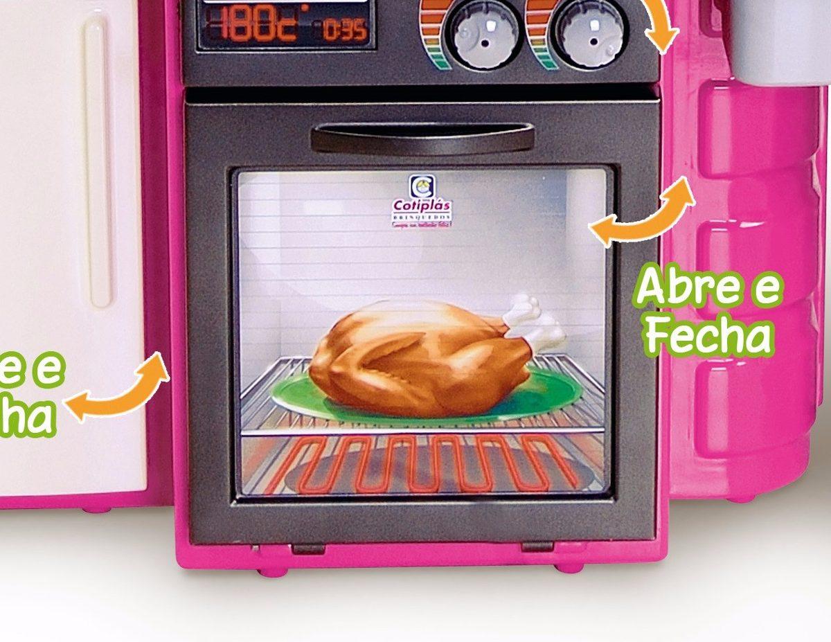Kit Cozinha Infantil Classic Brinquedo Completa Boneca Frete R