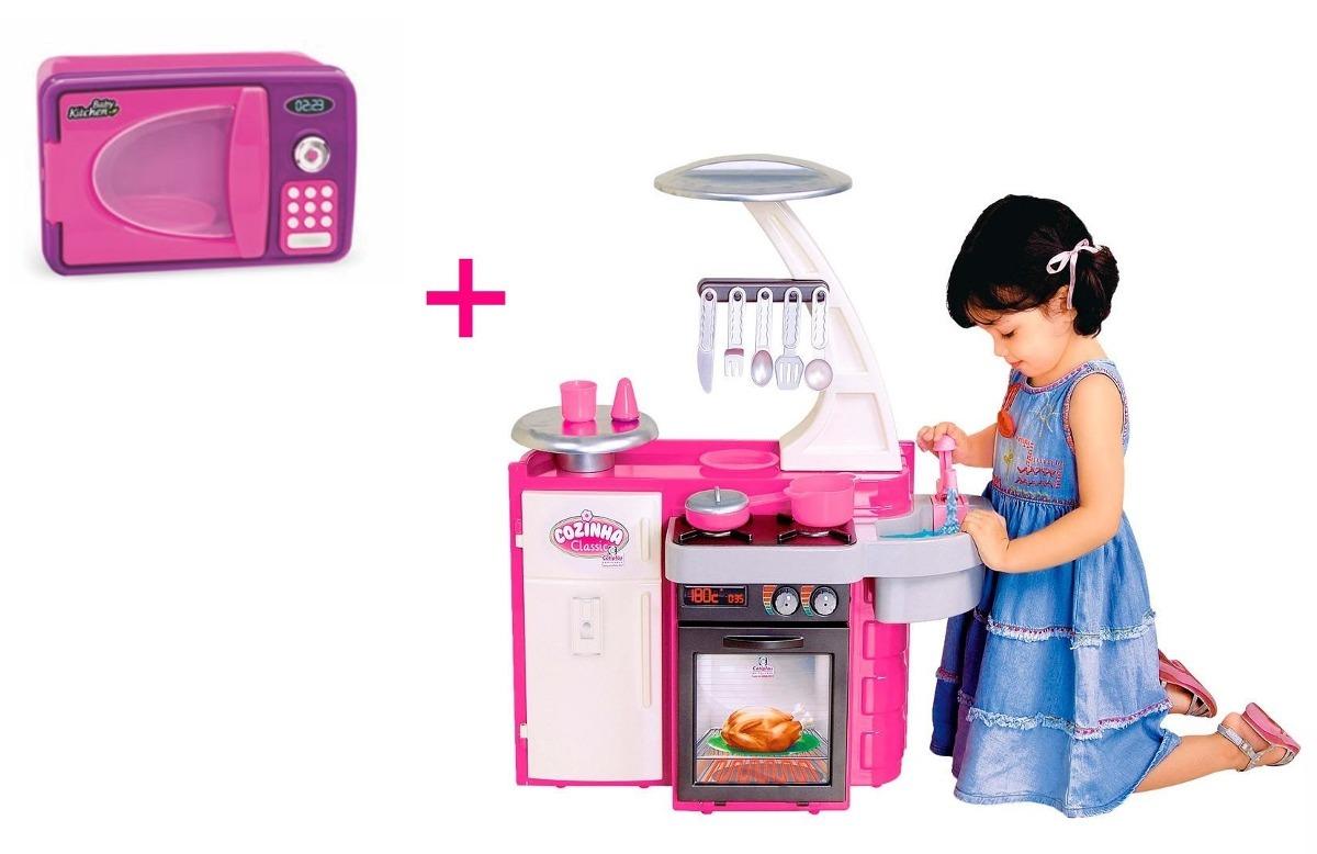 Kit Cozinha Infantil Classic Cotiplas Microondas Som E Luz R