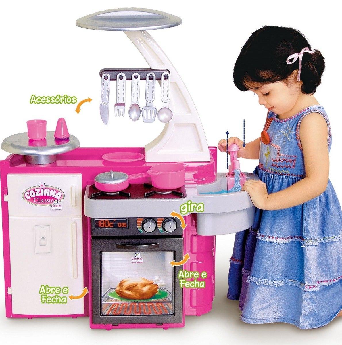 Kit Cozinha Infantil Completa Classic Cotiplas Sai Agua R 129 90