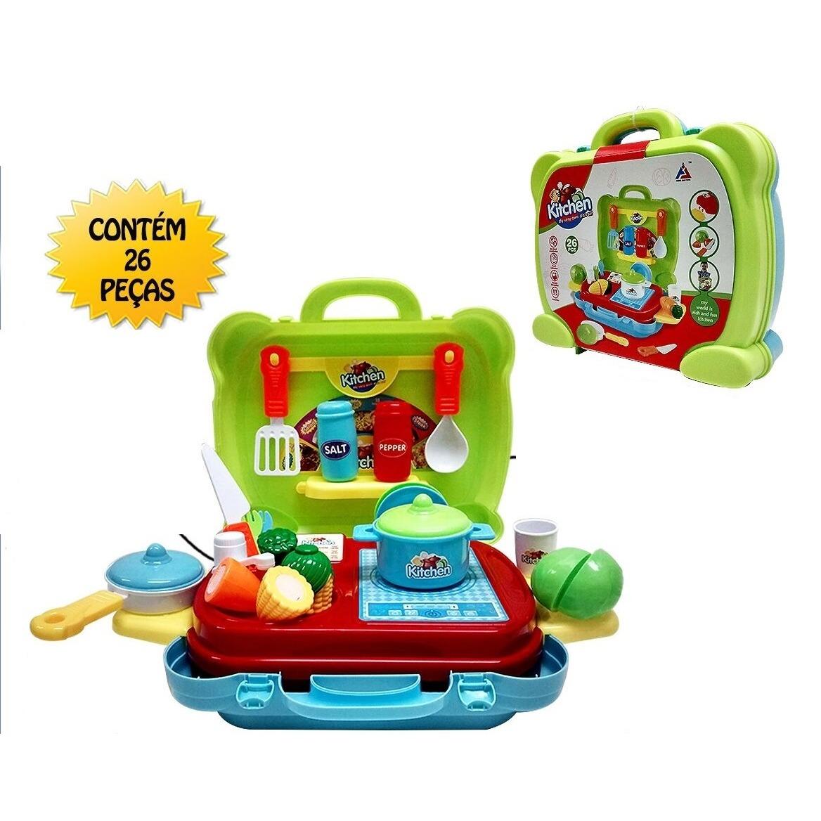 Kit Cozinha Infantil Completa Mini Mercado Portatil R 60 49 Em