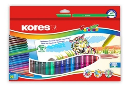 kit crea!! plumones/tempera 7/color jumbo/plumones/marc,borr