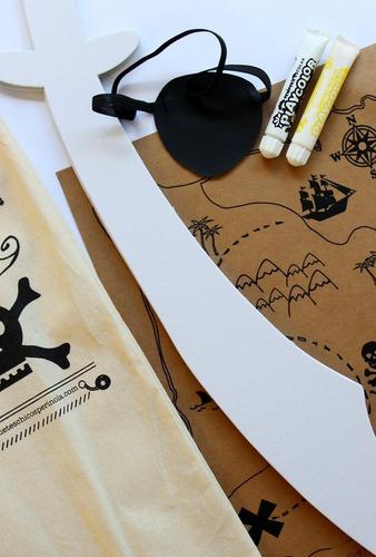 kit crear disfraz pirata niño c/ espada juguete didáctico