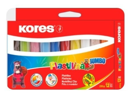 kit creativo colores kores x24, temperas x7 y plastilina x12
