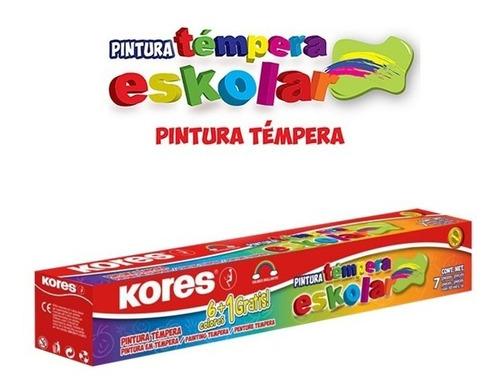 kit creativo colores kores x24, temperas x7 y plastilina x13