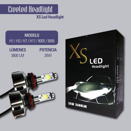 kit cree led h3 xs 35w 7200 lumenes reales envio gratis!