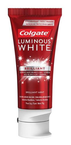 kit creme dental colgate luminous white brilliant 70g- 12 un