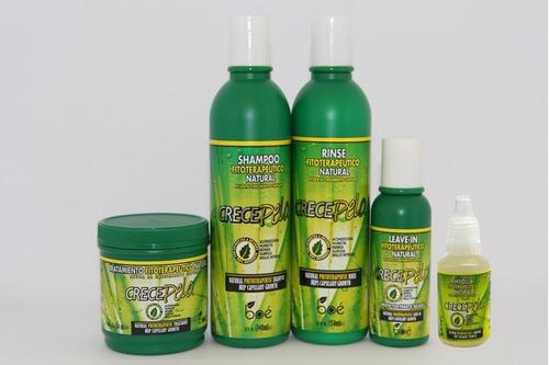 kit cresce pelo - shamp + cond + leave in + masc. + ampolla