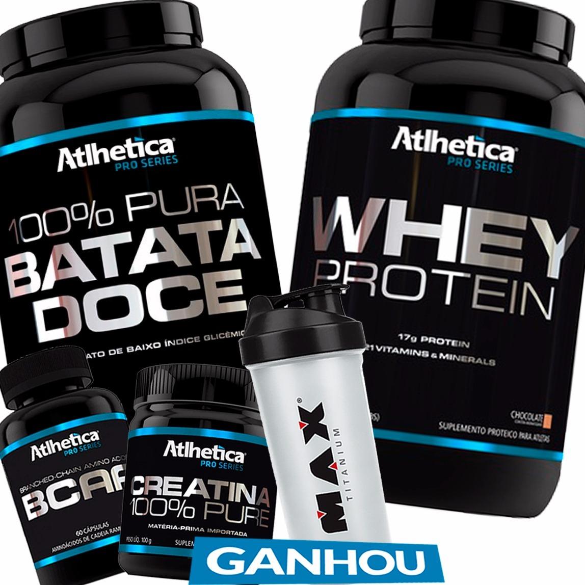 18fc280a0 kit crescimento muscular batata doce- whey protein brinde. Carregando zoom.