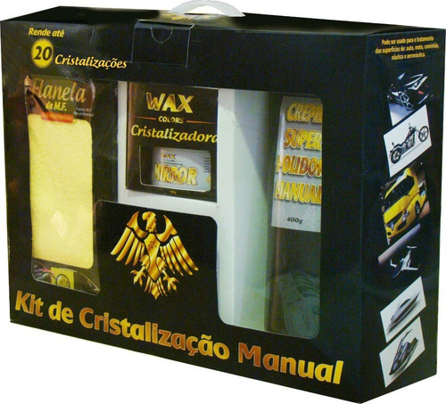 kit cristalização automotiva manual, rende 20 cristalizações