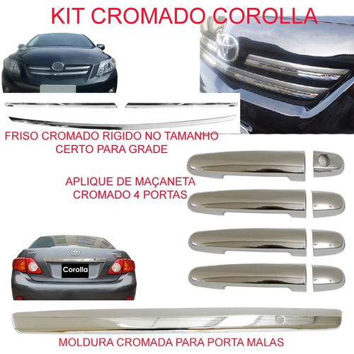 kit cromado corolla 2008 ate 2011