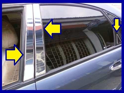 kit cromado pilares boceles de puertas chevrolet  optra