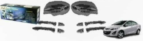 kit cromos de lujo mazda 2 sedan 13-15 4 piezas envios