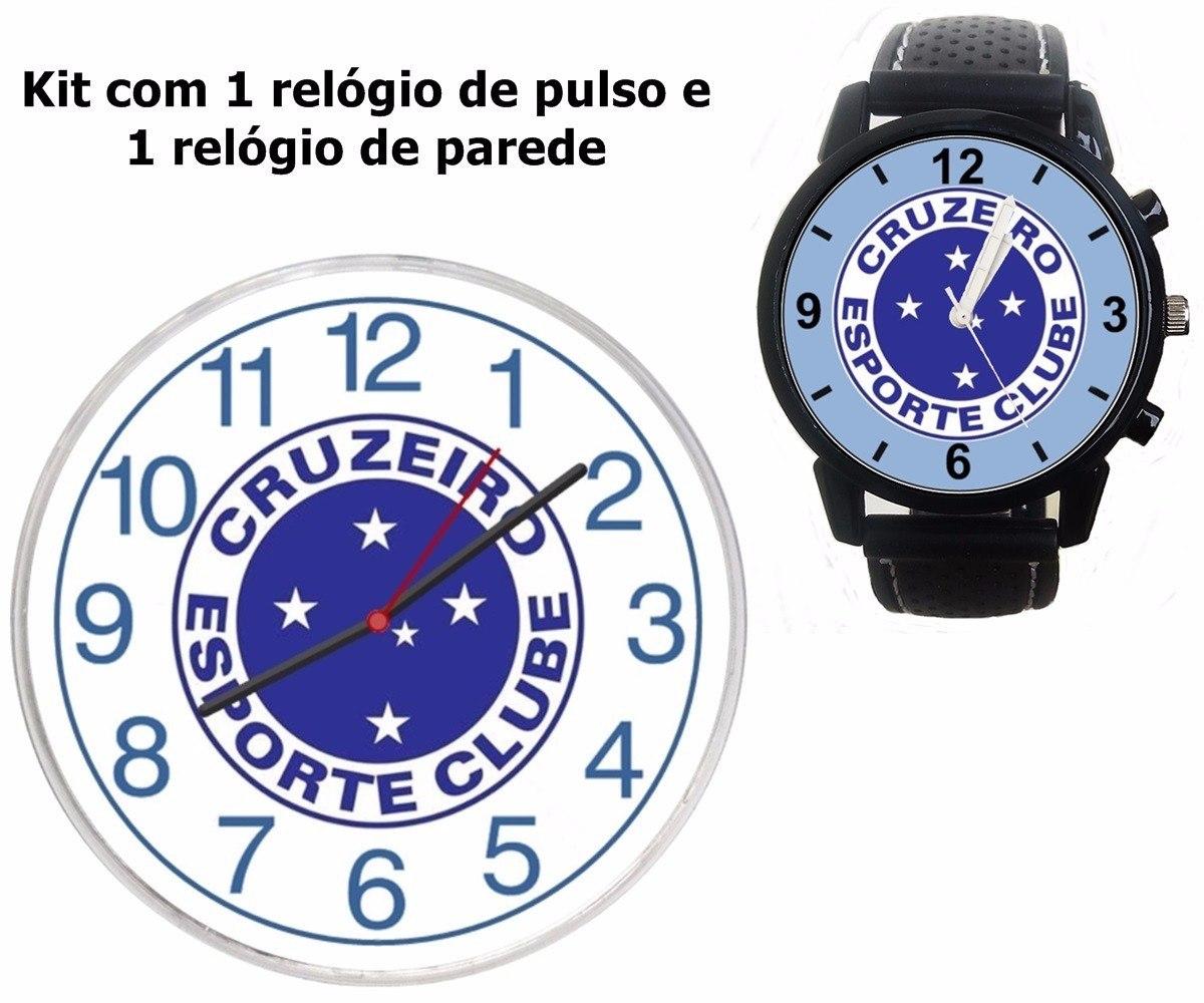 da8b9de7f3c kit cruzeiro 1 relógio pulso 1 parede barato escudo brasão. Carregando zoom.