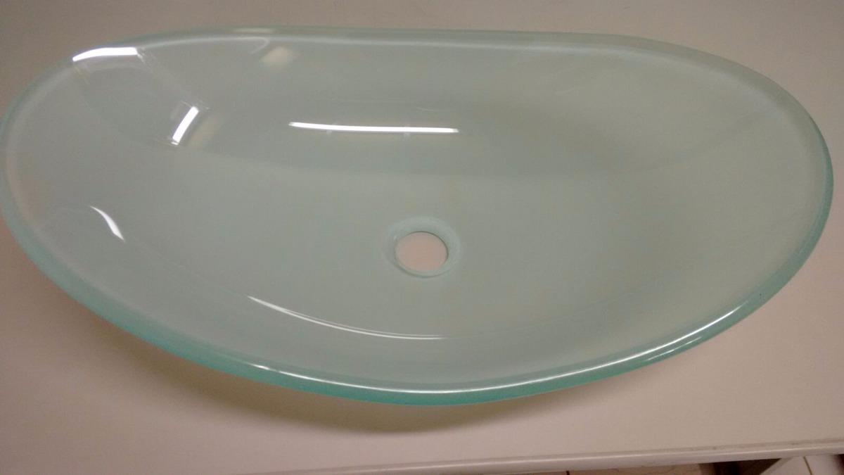 Kit Cuba De Vidro Oval Banheiro + Válvula Clic  R$ 169,90 em Mercado Livre -> Cuba Para Banheiro De Vidro Oval