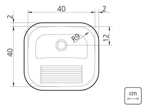 kit cuba lavínia 47 bl 47x30cm + tanque hera 23l 40x40cm