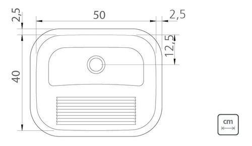 kit cuba lavínia 56 bl 56x34cm + tanque hera 30l 50x40cm