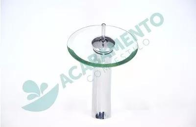kit cuba vidro redonda 30 cm+ ( misturador ) + válcula click