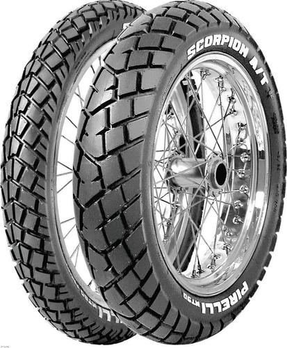 kit cubiertas pirelli 120 90 17 + 90 90 21 mt 90 - fas motos