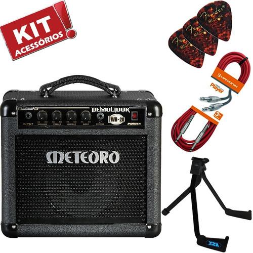 kit cubo amplificador baixo demolidor fwb20 20w meteoro