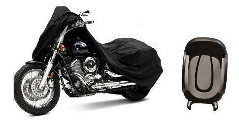 dc004d3ecdd kit cubre moto impermeable afelp c/ valija + soporte celular ...