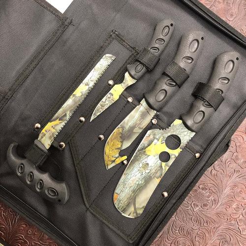 kit cuchillos destazo con afilador y estuche elk ridge 925
