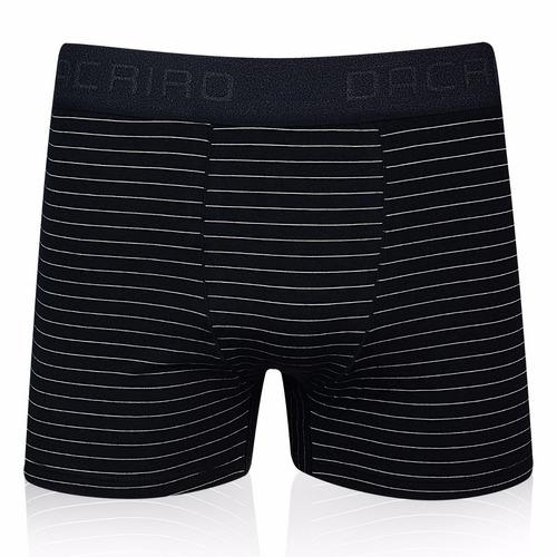 kit cuecas boxer cotton risca de giz 05 peças ref 139