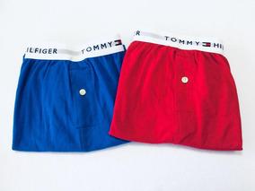 a7496a1d12287d Kit Cuecas Tommy Hilfiger Tamanho P Azul E Vermelha