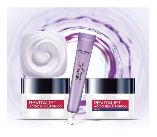 kit cuidado facial loreal ácido hialur - ml a $179