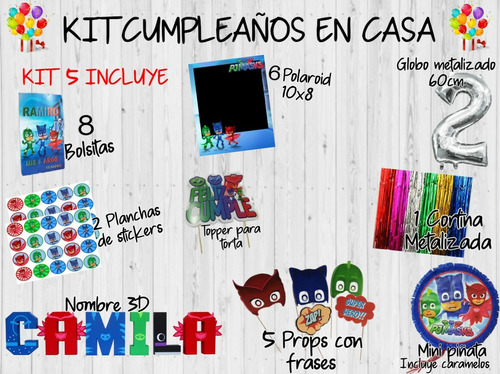 kit cumple en casa