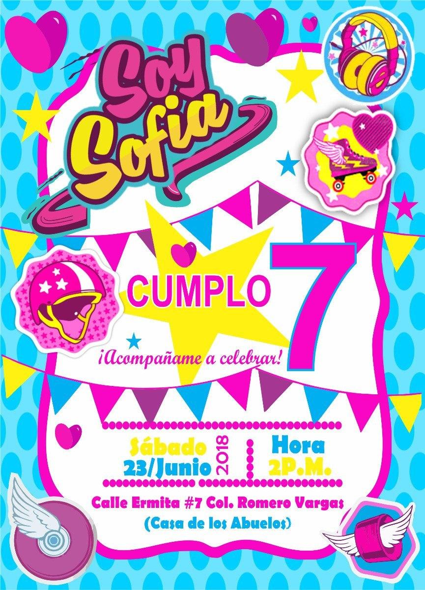 Kit Cumpleaños Editable Invitacion Soy Luna