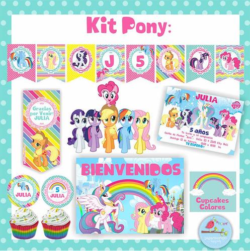 kit cumpleaños pequeño pony