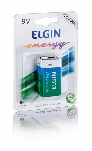 kit cx c/30 baterias 9v alcalina elgin energy em blister