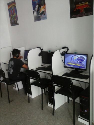kit cyber 10 computadoras internet monitores cpu