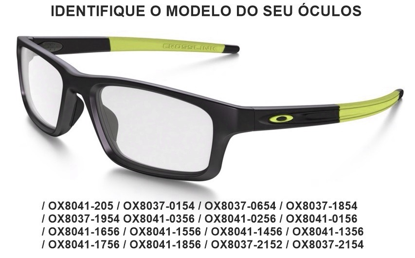 Kit D Borracha Haste P Oakley Crosslink Pitch Ox8037 Ox8041 - R  95 ... 22389a16e8
